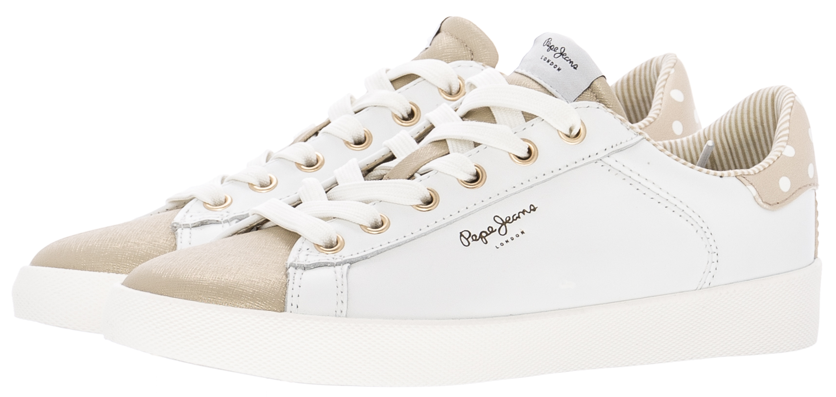 Pepe Jeans Γυναικεία Παπούτσια Casual Kioto.Dotty Χρυσό ECOleather ... eaa443106ef