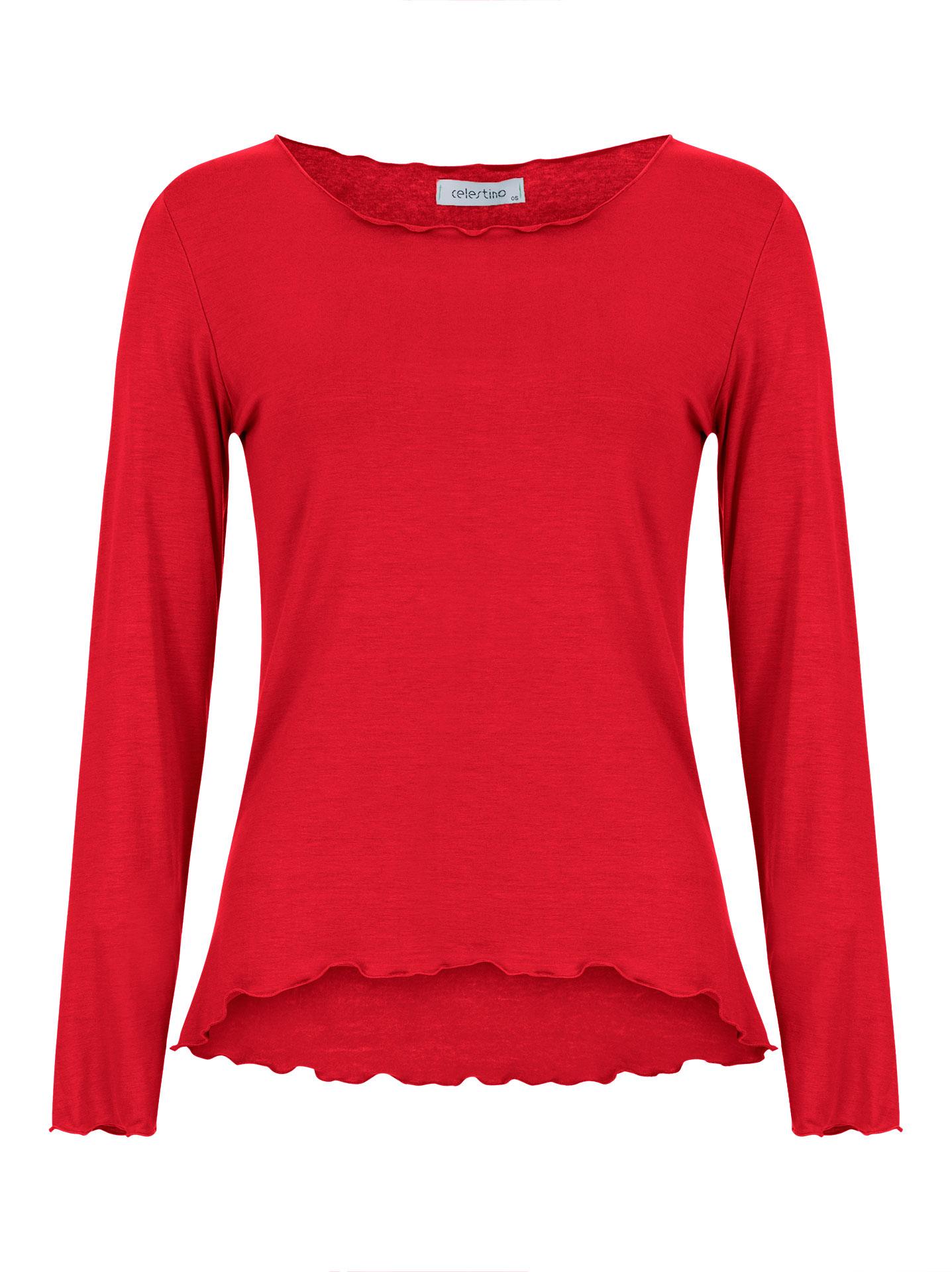 8d55fdc28269 Celestino Μακρυμάνικη μπλούζα με βολάν SE7882.4867+4 - Glami.gr