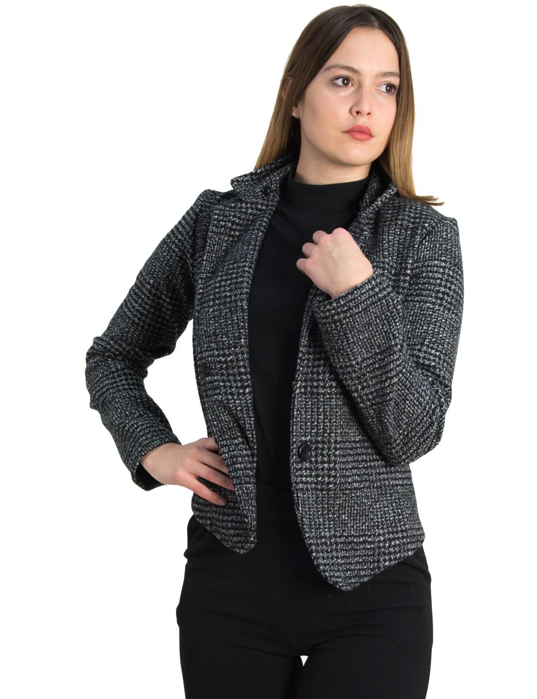 374a9555a5c7 Γυναικείο ζακάρ σακάκι Benissimo μαύρο αποσπώμενη γούνα 64527 - Glami.gr