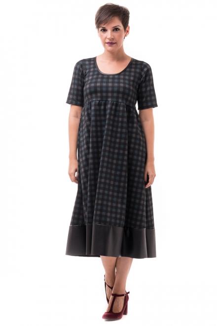 Petit Boutik Καρό Μίντι Φόρεμα Με Φάσα Δερματίνη - Glami.gr 9cf5aecf017