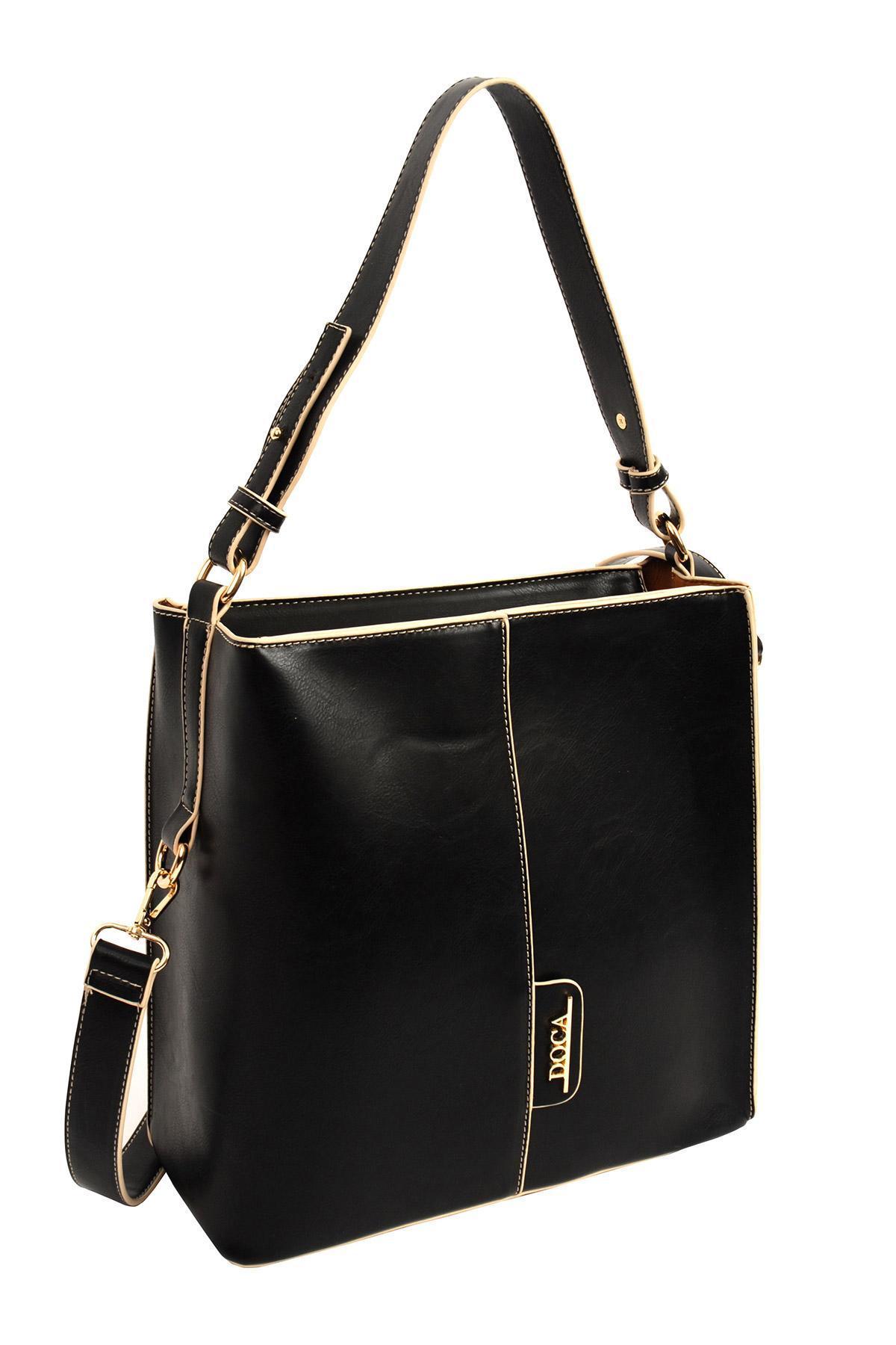 d48fe4395c DOCA Καθημερινή τσάντα μαύρη (14706) - Glami.gr