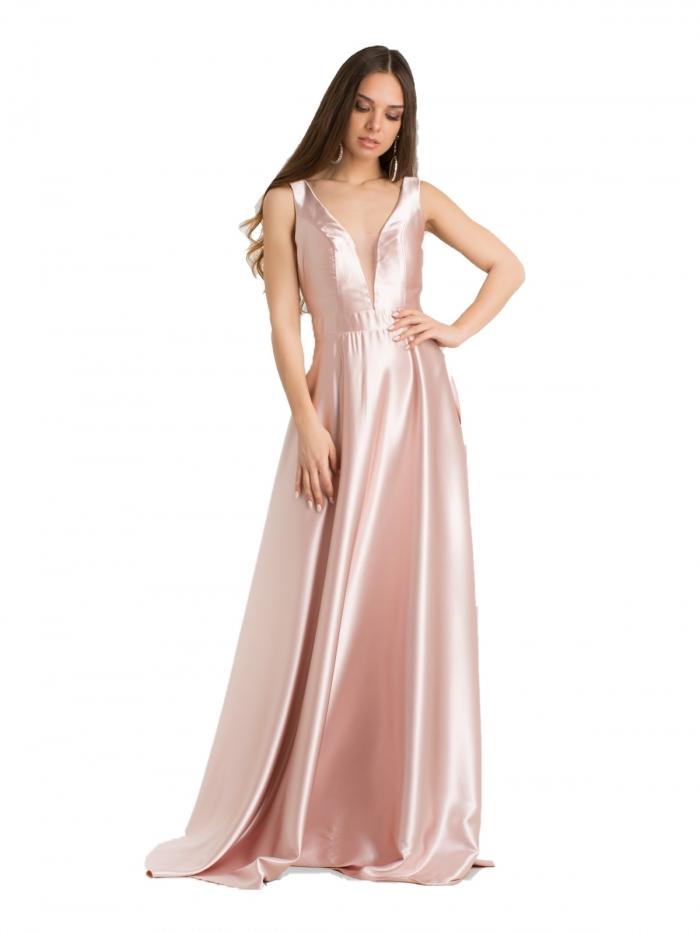 2844ea1b1e8c DeCoro F2180 Φόρεμα Satin - ΡΟΖ - 12 - Glami.gr