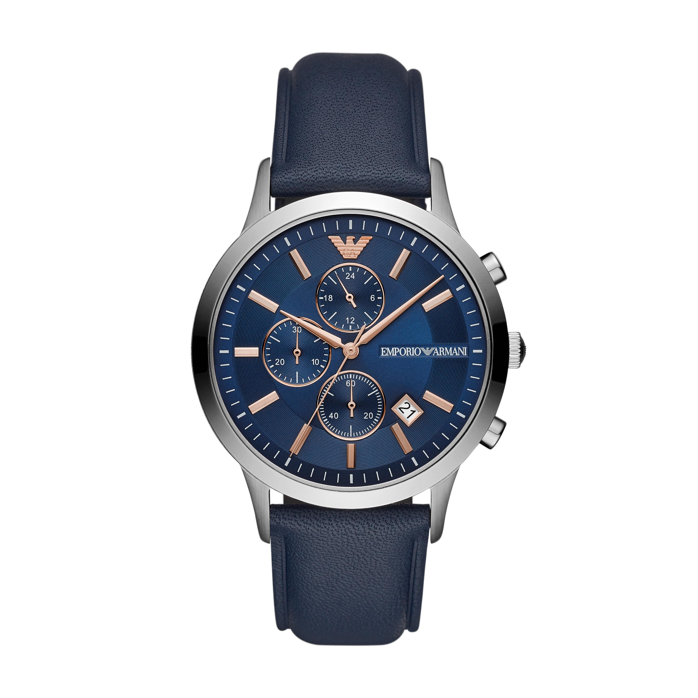 2fc90b16d3 Ρολόι EMPORIO ARMANI - Renato AR11216 Navy Silver - Glami.gr