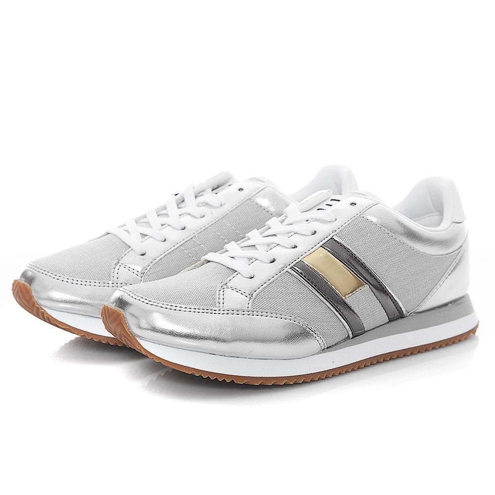 394760ebd51 Tommy Hilfiger Wmn Casual Retro Sneaker EN0EN00413-000 - ασημι ...