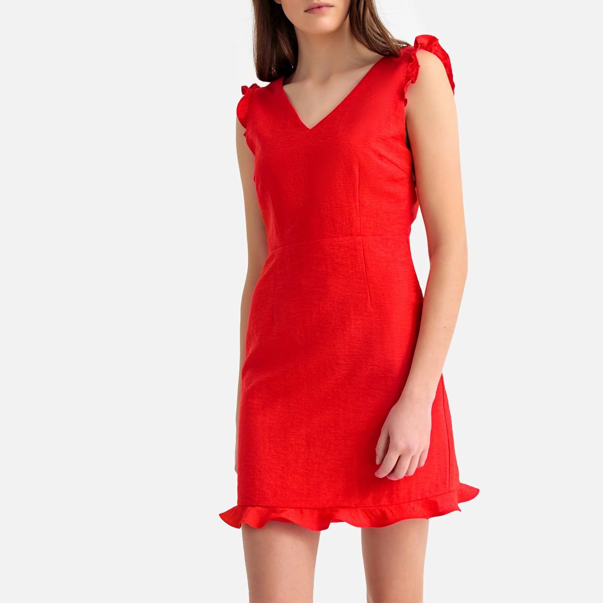 f642820d6059 SUNCOO Φόρεμα με βολάν και άνοιγμα στην πλάτη - Glami.gr