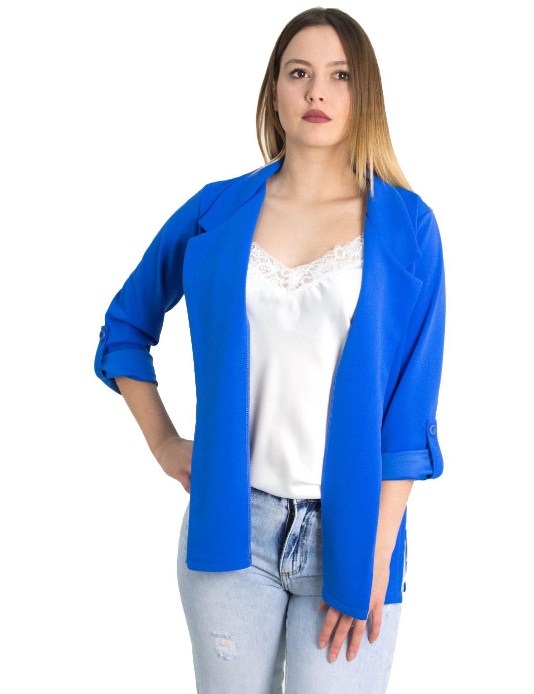 90cd16c51d45 Γυναικείο ρουά υφασμάτινο σακάκι μονόχρωμο Lipsy 1190802 - Glami.gr