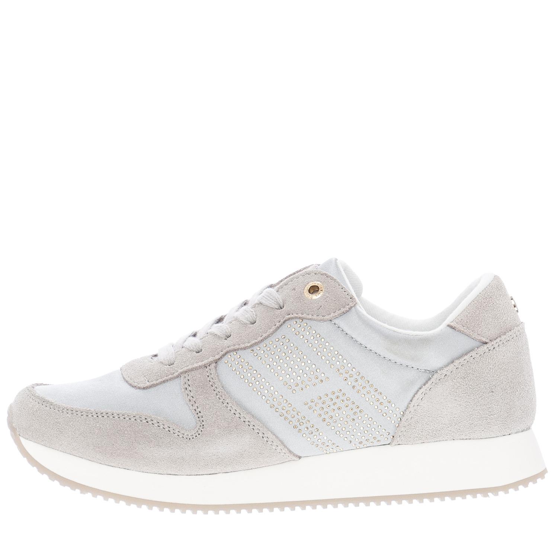 a63058bb381 Γυναικεία Παπούτσια Casual City.Sneaker Γκρι Δέρμα Καστόρι Tommy Hilfiger
