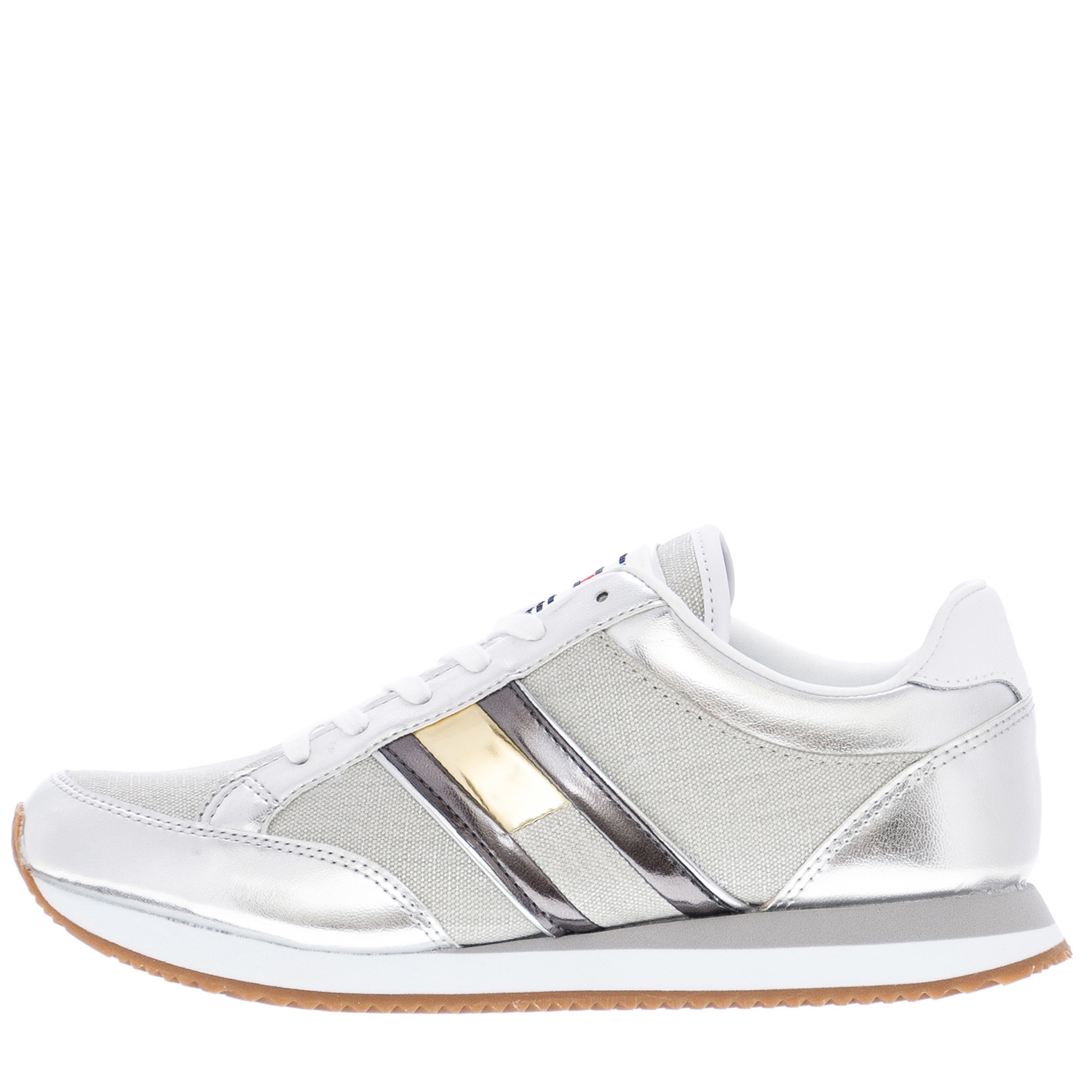 6531253a737 Γυναικεία Παπούτσια Casual Retro.Sneaker Ασημί ECOleather Tommy Hilfiger