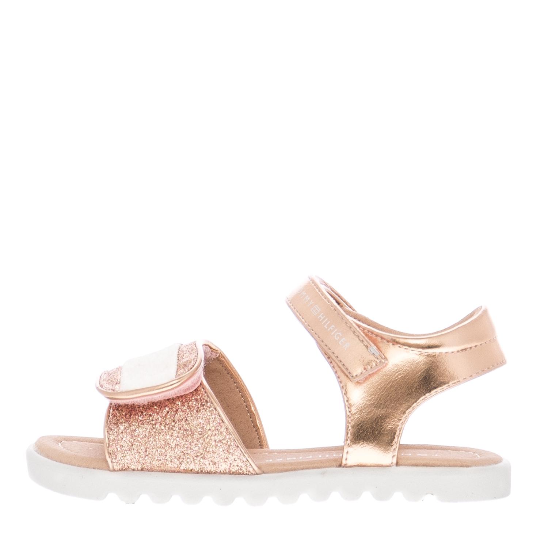 3927f336ab7 Παιδικές Σαγιονάρες & Πέδιλα Velcro.Sandal Ροζ ECOleather Tommy ...
