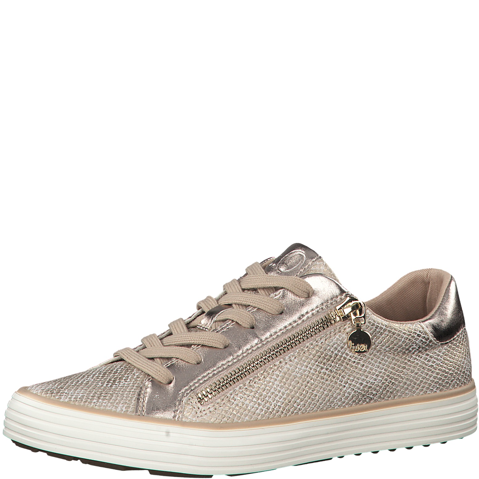 sooshoe sOliver sneakers champag. snake
