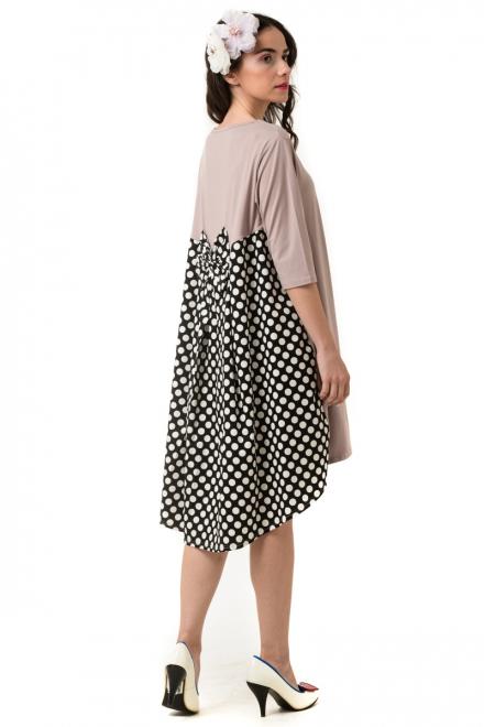 d940223c37da Petit Boutik Ροζ Φόρεμα Πουά με Φιόγκο   Ουρά - Glami.gr