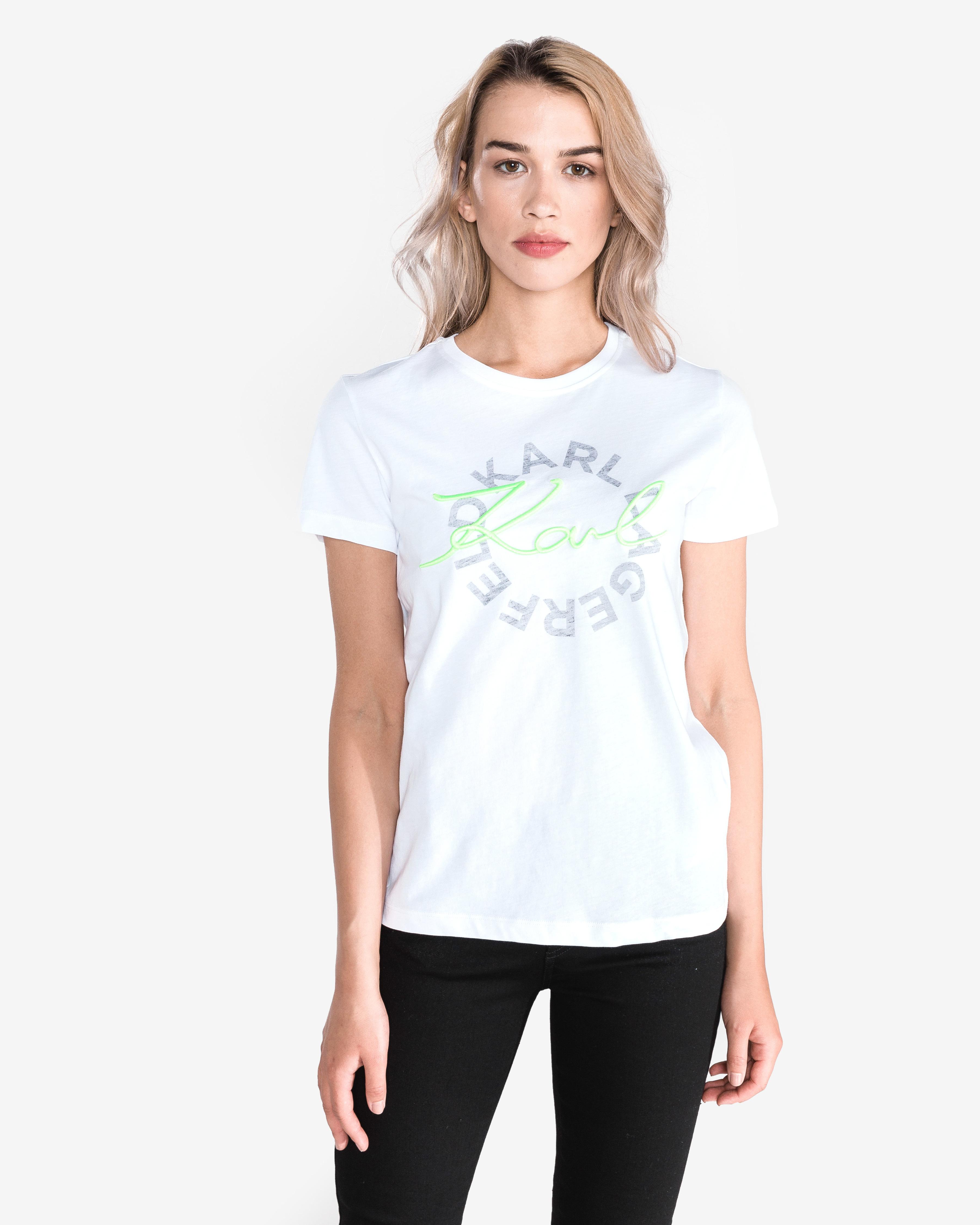 9b0f390bac36 Women Karl Lagerfeld T-shirt White - Glami.gr
