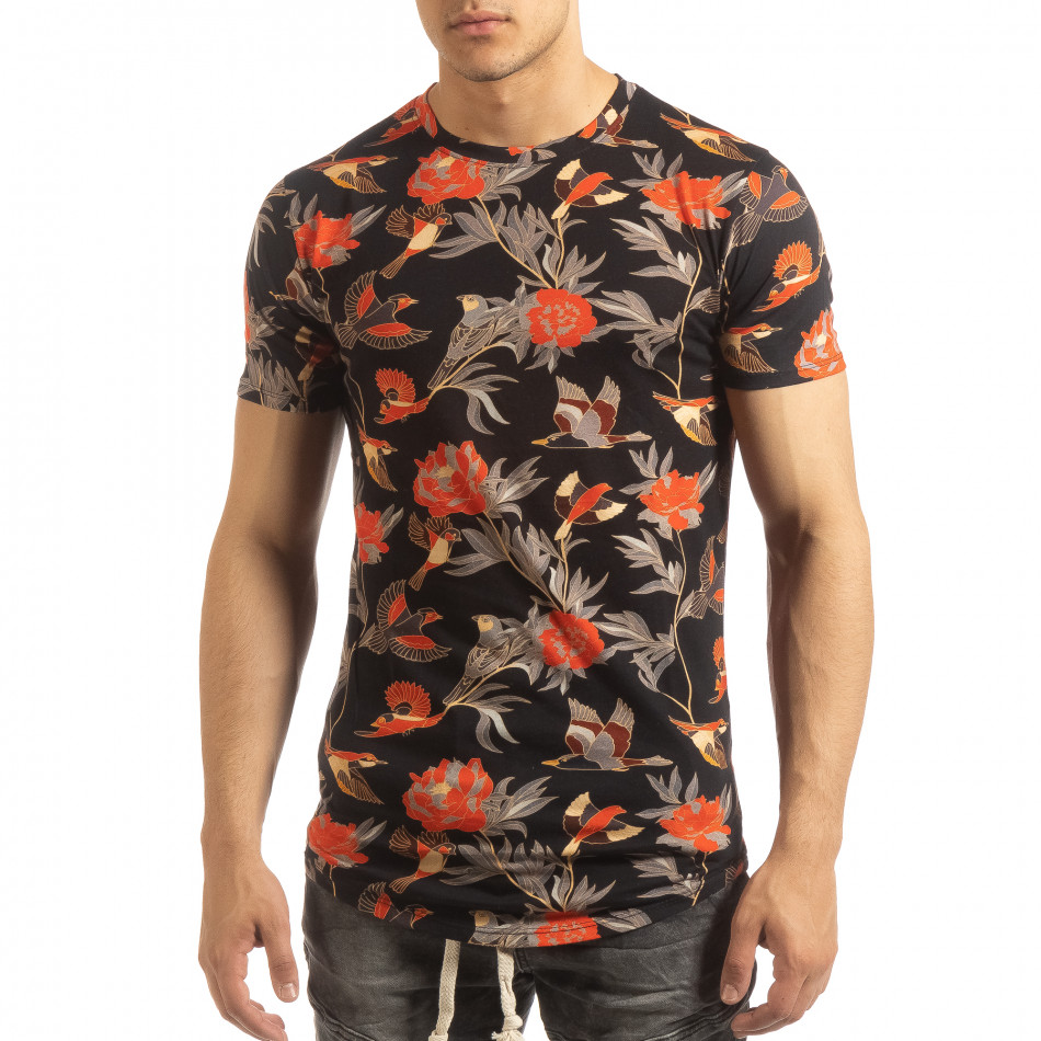 71e99625e2c3 Uniplay Ανδρική πολύχρωμη κοντομάνικη μπλούζα με εξωτικά σχέδια ...