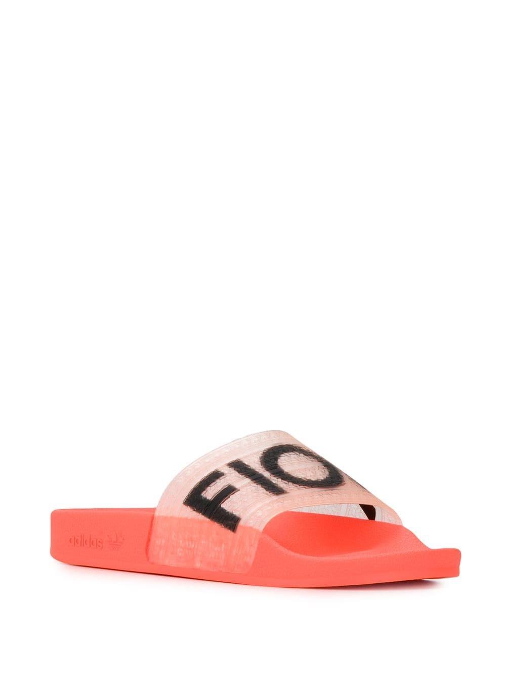 adidas Fiorucci slide sandals - ORANGE