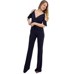 d8166682b225 No Stress Γυναικεία ολόσωμη φόρμα έξωμη μπλε βολάν μανίκια 8136169