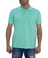 Ανδρική Polo μπλούζα Green Wood βεραμάν μονόχρωμη 107901871C. -20% 96988b634c5