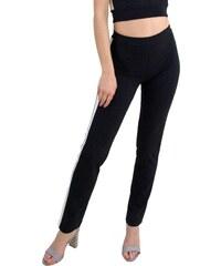 50bc89faae32 No Stress Γυναικείο ψηλόμεσο παντελόνι μαύρο λευκή ρίγα 8155115