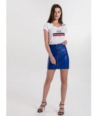 The Fashion Project Φούστα δερματίνη - Μπλε - 03992037005 c524c68325c
