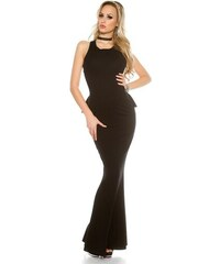 6bad2cd1bc9c Fashion Style 41551 FS Βραδινό εξώπλατο μάξι φόρεμα -Μαύρο
