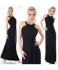 fe0331fa0e9f SD Fashion 30840 SD Βραδινό μάξι φόρεμα με ανοιχτή πλάτη - μαύρο