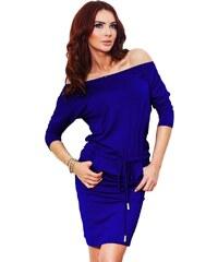 366a122524f8 Numoco 70060 NU Μίνι φόρεμα με μακριά μανίκια - μπλέ ρουά - Glami.gr