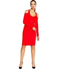 Dursi 60008 DR Ελαστικό μίνι φόρεμα με γυμνούς ώμους-Κόκκινο f6a994ed3ef