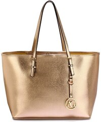 Anna Grace 1366 AG Γυναικεία μεγάλη τσάντα ώμου AG00297 - χρυσή 42de02d5240