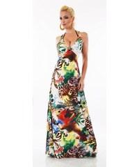 cfc6db4e3c14 SD Fashion 31044 SD Φλοράλ εξώπλατο μάξι φόρεμα - Πράσινο