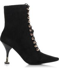 Suede Δερμάτινα Μποτάκια Jeffrey Campbell Letizia Lace Up Heeled Boots 6a32856616a