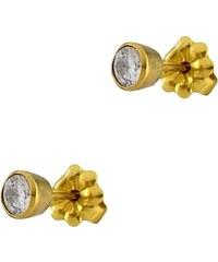 Mertzios.gr Σκουλαρίκια καρφωτά χρυσά 14 καράτια με ζιργκόν 767fbe6b0df