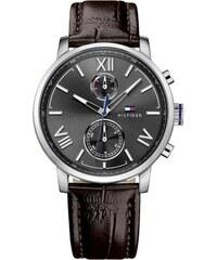 Ρολόι Tommy Hilfiger Alden πολλαπλών ενδείξεων με καφέ λουράκι 1791309 83425582cd0