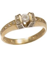 Watchmarket.gr Δαχτυλίδι μονόπετρο χρυσό και λευκόχρυσο 14 καράτια με  ζιργκόν ef895da2e4e