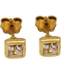 Watchmarket.gr Σκουλαρίκια καρφωτά χρυσά 14 καράτια με ζιργκόν fd5071a31c7