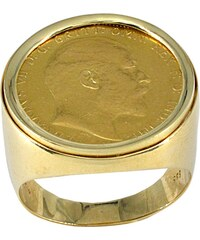 Watchmarket.gr Ανδρικό δαχτυλίδι χρυσό 14 καράτια με χρυσή λίρα 22 καράτια 6f8974fc1bf