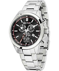 Ρολόι Sector 180 Contemporary chronograph με ασημί μπρασελέ R3273690008 1f0eb3b2748