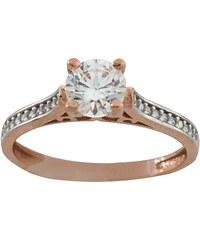 Filva Δαχτυλίδι μονόπετρο ροζ χρυσό 14 καράτια με ζιργκόν swarovski ... 38acc1c8e58