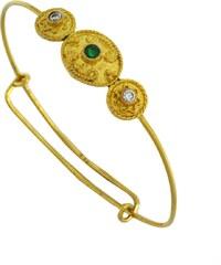 Watchmarket.gr Παιδικό βραχιόλι χειροπέδα χρυσό 14 καράτια με ζιργκόν 41d63f60439