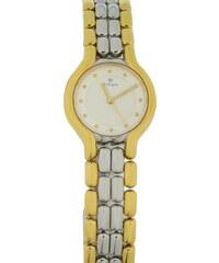 Watchmarket.gr Γυναικείο ρολόι TITAN με ασημί-χρυσό μπρασελέ και λευκό  καντράν 7cda24caa21