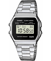 Ρολόι Casio vintage ψηφιακό με ασημί μπρασελέ A-158WEA-1EF 806e720d8db