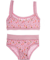 700dc6f8cff Παιδικό σετ βαμβακερό για κορίτσι με σχέδιο ροζ σκούρο Emy