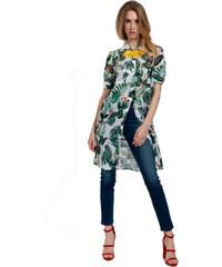Γυναικεία Πουκαμίσα Milly Brown 18-MB124-00 Εκρού Πράσινο Φλοράλ badoo 18 -mb124 071f6095a21