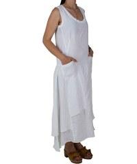 8ae50b1027f4 Λινό Maxi Φόρεμα Passager 75378 Λευκό passager 75378 leyko
