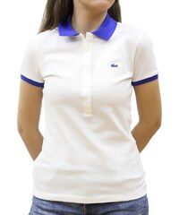 e36bc97a462a LACOSTE POLO IN STRETCH COTON BLANC DELTA