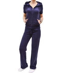 JUICY COUTURE MICROTERRY SHORT SLEEVE AND PANT WOMAN NAVY BLUE fb44ea8bc43