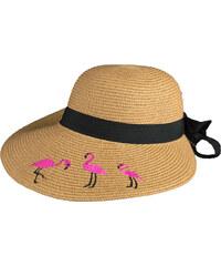 1f9f0a580c Stylegr Καπέλο ψάθινο με ροζ flamingo