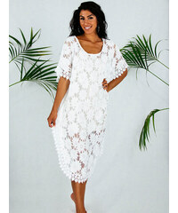 5878786b0da7 Stylegr Φόρεμα καφτανι αερινό λευκό όλο δαντέλα