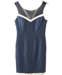 f29c519d56ac BRAVO Αμάνικο γαλάζιο μίντι δαντελωτό φόρεμα