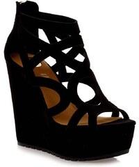 EXE Shoes Γυναικεία Πέδιλα Πλατφόρμες ROSA-619 Μαύρο G47006917004 exe shoes  rosa-619 mayro a2ed6e6cefb