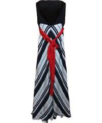 bba987d0da4e Angelo Maxi strapless φόρεμα με ριγέ φούστα