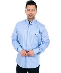 e6698507c553 outletshop Zen Zen Γαλάζιο ανδρικό πουκάμισο με κέντημα
